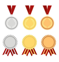 award rosette gold vector image