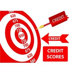 bank credit report vector image vector image