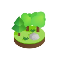 Green forest isometric 3d icon vector image