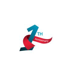 1 th anniversary template design vector