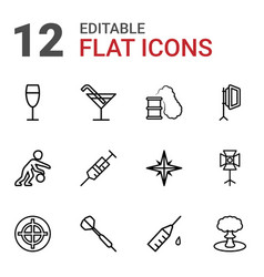 12 shot icons vector
