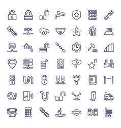 49 system icons vector