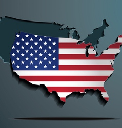 American flag paper map vector image