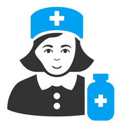 Apothecary lady flat icon vector