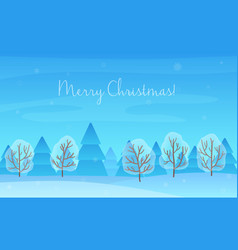 Beautiful Chrismas winter landscape background vector