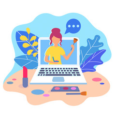 beauty workshops online vector image