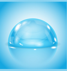 blue glass dome shiny transparent semi sphere on vector image