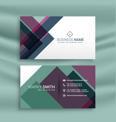 Business card presentation template with abstract vector