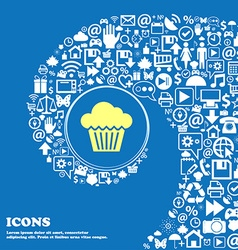 cake icon Nice set of beautiful icons twisted vector image