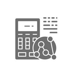 Calculator calculation of daily calories vector