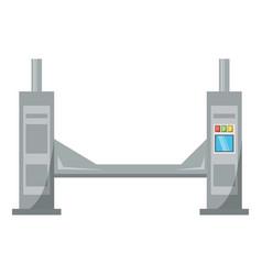 car lifting machine vector image