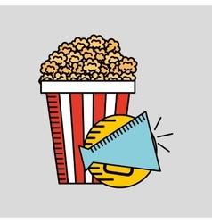 Cartoon megaphone cinema movie icon vector