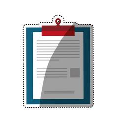 checklist document sheet vector image