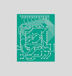circuit icon vector image
