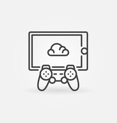 cloud gaming on tablet with gamepad concept vector image