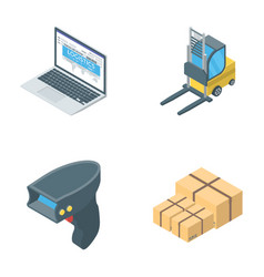 Collection of logistics icons vector