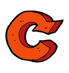 comic cartoon recycling symbol vector image