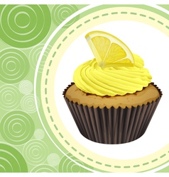 cupcake and a wallpaper vector image