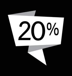 discount icon design vector image