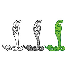 drawing a snake in egyptian style vector image