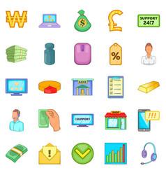 duty icons set cartoon style vector image