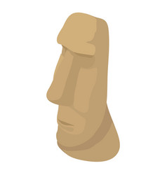 Easter island icon isometric style vector