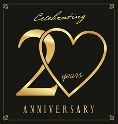 Elegant black and gold anniversary background 20 vector