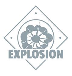 Explosion logo simple gray style vector