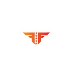 f initial star logo vector image