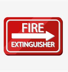 Fire extinguisher label design vector