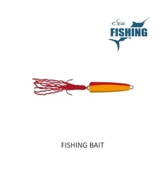 Fishing bait Item of fishing vector