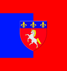 Flag of saint-lo in normandy is a region of france vector