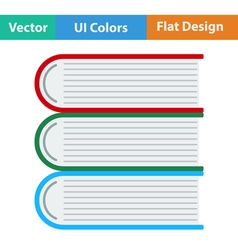 Flat design icon of Stack of books vector