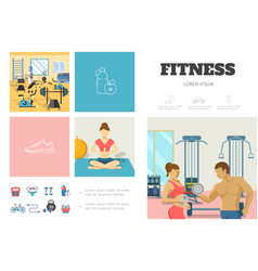 flat sport infographic template vector image