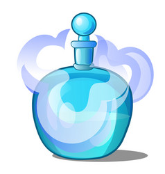 Glass bottle with scented liquid vector