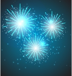 Glossy Fireworks Background vector image