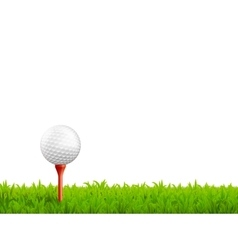 Golf Realistic vector image