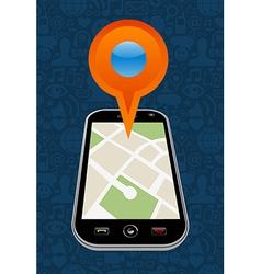 GPS city map arrow vector image