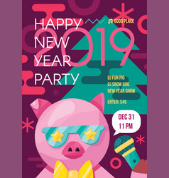 Happy new year party event poster template vector