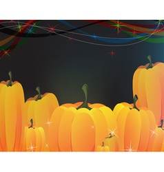 Heap of ripe pumpkins vector