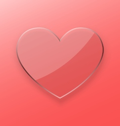 Heart transparent glass concept vector image