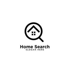 Home search logo template design vector