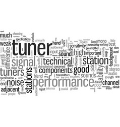 How to choose a good tuner from the bad vector