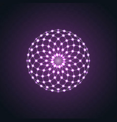 isolated neon glow symmetry element sacred vector image