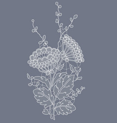 Lace floral decor vector