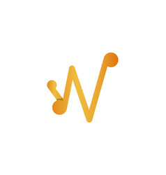 letter w logo design inspiration vector image
