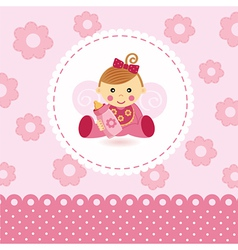 Little girl baby vector