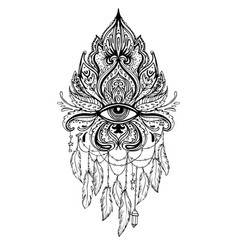 Lotus eye sacred geometry ayurveda symbol vector