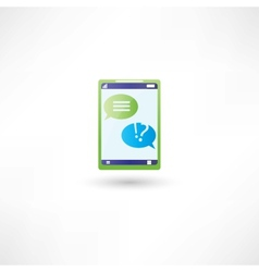 message support on phone vector image