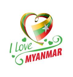 National flag myanmar in shape vector